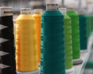 Spools of thread in various colors